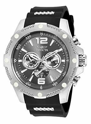Invicta I-Force Multi-Function Gunmetal Dial Black Polyurethane Mens Watch 19656