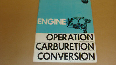 lycoming engine operation, carburetion and conversion manual