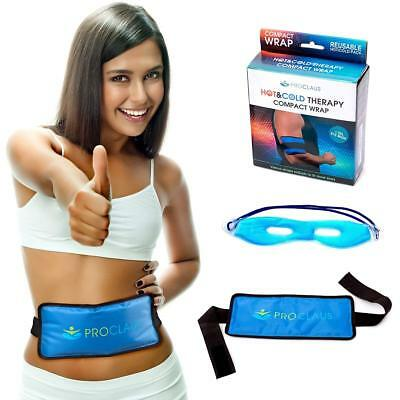 Reusable Gel Ice Pack with Strap | Hot and Cold Therapy Heat Wrap for Knee Back