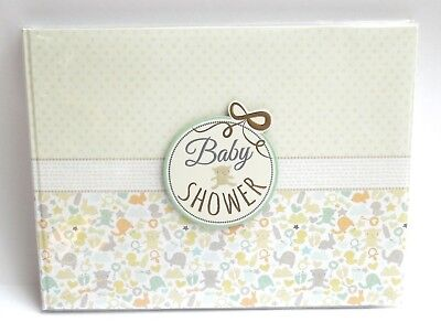 BABY SHOWER GIFT -MEMORY/KEEPSAKE 25 PAGE GUEST BOOK-NEW BABY GIFT in a GIFT BOX