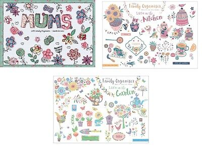 Mum's Family organiser 2019 A4 Month to view with five column wall planner