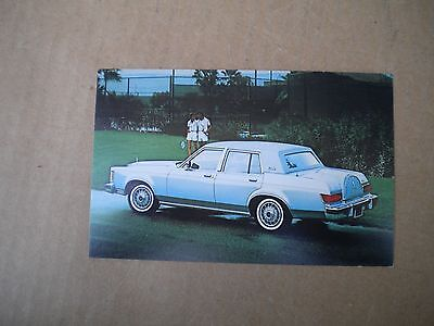 1979 Lincoln Versailles Car Dealers  Post Card