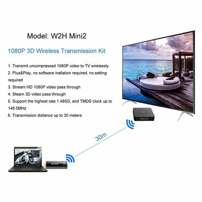 Measy Wireless HDMI 1080P Uncompress Transmitter & Receiver 30-Meter W2H MINI2#$