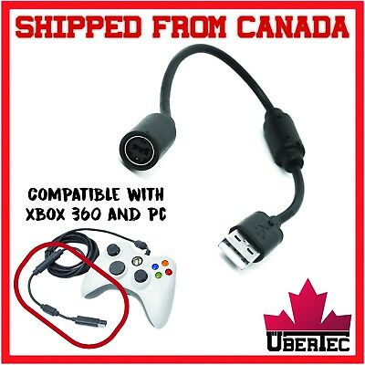 Xbox 360 Breakaway Controller Connector Cable Wired Controller Adapter USB Black