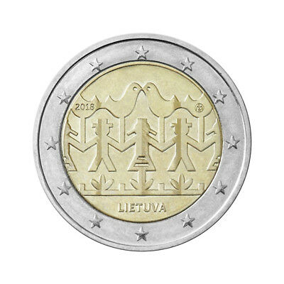 """Lithuania 2 Euro commemorative coin 2018 - """"Song and Dance Festival"""" - UNC"""