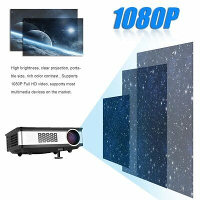Z720 Professional 5.8 Inch LCD Display HD 1080P Home Projector Video Projector#$