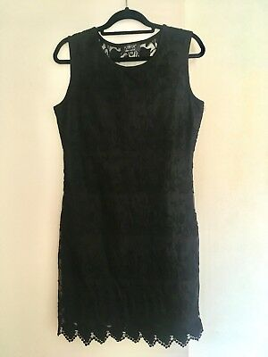 Black Lacy Dress From Debenhams size 12. I WILL BE ON HOLIDAY 14th June -29th
