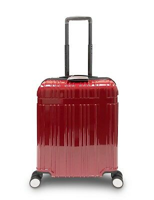 GoldenHills Brooklyn PC Hardcase Lightweight CarryOn Luggage Suitcase (Ruby Red)