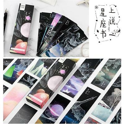 30pcs Starry Sky Paper Bookmarks Book Marks Supplies Stationery  Selling s