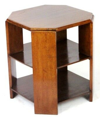 Art Deco Mahogany 3 Tier Side / Coffee Table - FREE Shipping [PL4562]