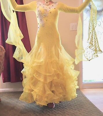 3e387fa3cf098 Ballroom Dance Dress - Yellow - Standard Dress - Brand New - Size SMALL/ MEDIUM