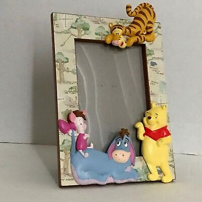 The Disney Store Winnie The Pooh Figurines 3D Picture Frame 5.3/25 W x 9.0 H