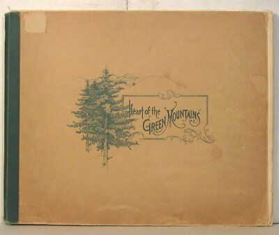 1897 Heart of the Green Mountains Rutland Railroad Co. book with map
