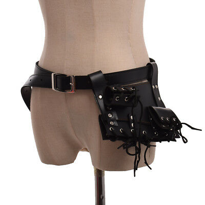 Medieval SCA Black Frog Holster With Belt Rapier Cross Lacing Holder Belt Swords