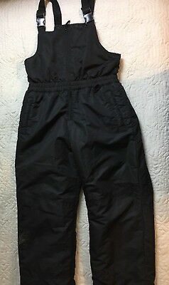 Faded Glory Black Snow Bibs Pants Overalls Youth Size XXL 18 Boys Insulated