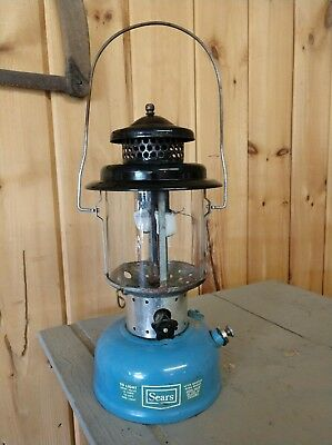 SEARS Lantern by COLEMAN 3/69 MODEL 476.72212 PYREX Glass Globe