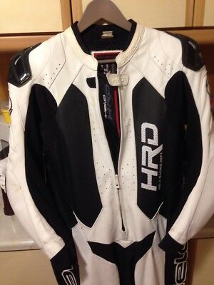 Held Slade Leather Suit 1-Pc Clothing Sports White/Black size 48