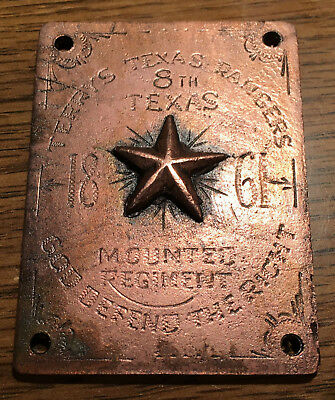 1861 Terry's Texas Rangers Confederate Civil War Breast - Box or Saddle Plate