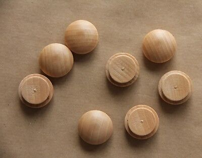 8 x 15 mm Mushroom Plugs Head Wooden Solid Covering Screw Heads FREE PP Button