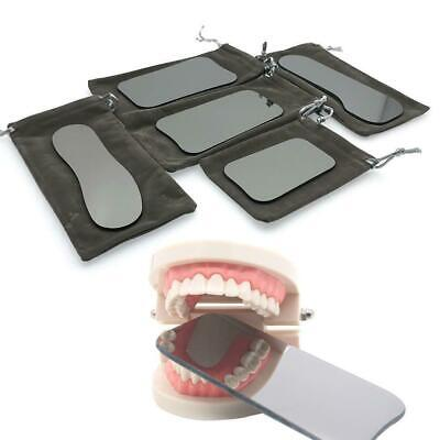 5* Dental Intraoral Orthodontic Pographic Glass Mirror 2-sided Rhodium  s