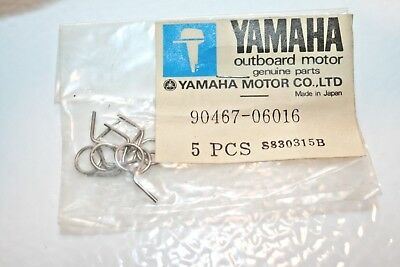 5 NOS Yamaha OUTBOARD FUEL OIL WATER LINE CLIPS 90467-06016