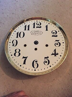 "New England Clock Company Face And Bezel Dial 10.5"" Diameter"