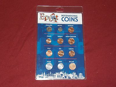Disney Parks EPCOT International Coin Set Zimbabwe, Mexico & More New