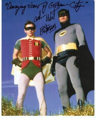 "Adam West autograph & wrote ""Batman & wrote ""Amazing View of Gotham City"""