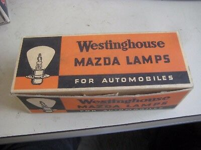 7 Westinghouse Mazda Lamps #1000 6-8 Volts Super Headlight Bulbs
