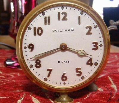 Waltham 8 Day Car Mechanical Clock Pierce Arrow Hands