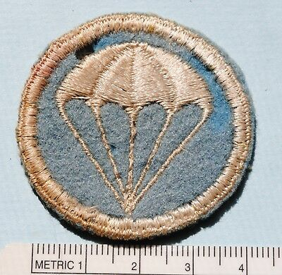 Wwii Us Paratroops, Infantry, Cap Patch, On Wool Felt, Cut Edge, No Uv Glow (#b)