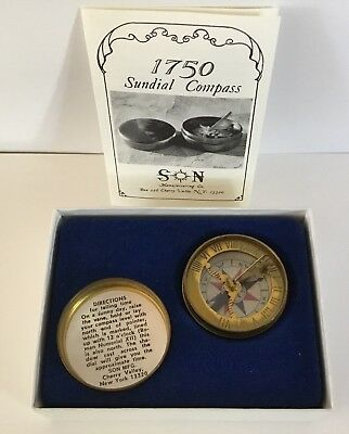 Vintage sundial compass~Son Manufacturing Co. Cherry Valley NY