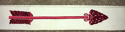 Vtg BSA Boy Scouts of America Order of The Arrow Sash W/Snap Red  Embroidered