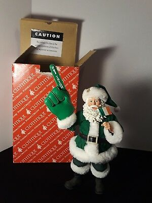 "Department 56 Possible Dreams Santa Claus ""Number One"" Clothtique Figurine,"