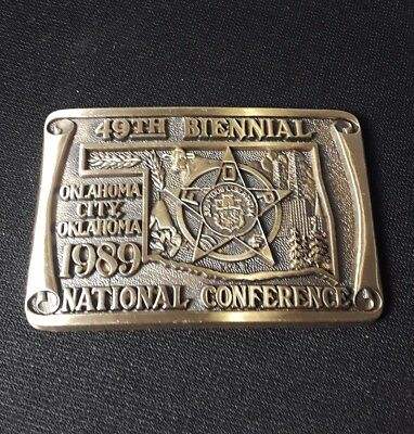 FOP Fraternal Order of Police Belt Buckle 49th National Conference Oklahoma City