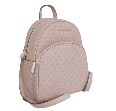 Details about Michael Kors Backpack Bag Abbey Md Backpack Quilted Leather Ballet New
