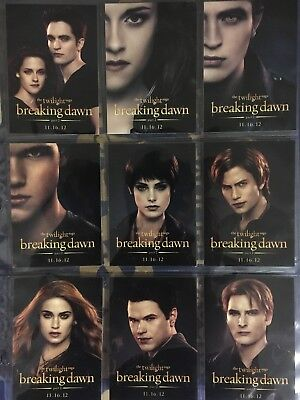 Twilight Breaking Dawn Part 2 SDCC Exclusive Promo Cards