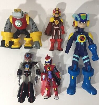Lot Of 5 Mega Man Capcom Nt Warrior Battle 2004 Network Mission Action Figure
