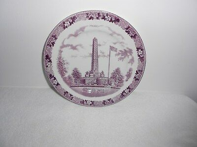 Lincoln's Tomb Old English Staffordshire Ware Plate  Springfield IL.