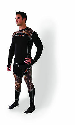 FXR Mens Black/Realtree XTRA 20% Merino Vapour Snowmobile Base Layer Top