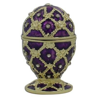Purple Trellis Royal Inspired Russian Easter Egg 2.5 Inches
