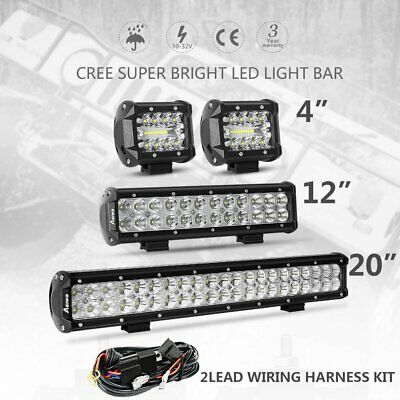 """20/"""" Inch CREE LED Work Light Bar 1820W Flood Spot Combo Offroad Driving Lamp 19/"""""""