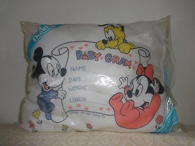 Dundee Disney Babies Vintage 80's Mickey Minnie Mouse Pillow NEW In Pack 10x13