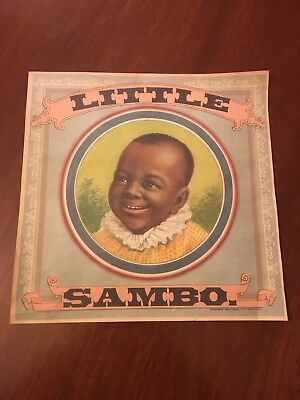 Little Black Sambo Tobacco Label Donaldson Bros. Fivepoints New York Copy Mint