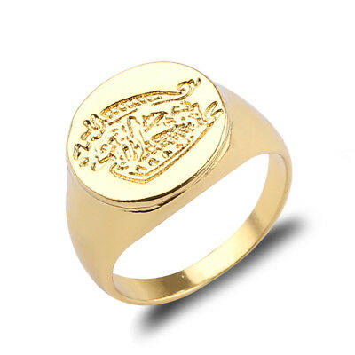 Kingsman: The Secret Service Ring- Brass Movie Signet Kingsman Ring Alloy HOT