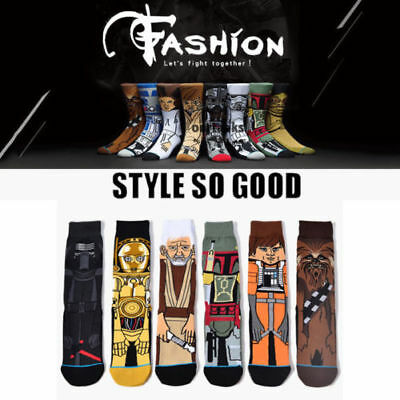 Star Wars Darth Vader Socks Cartoon Cut Mens Winter Warm Long Socks Stockings