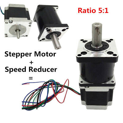 1.8NM Planetary Gear Ratio 5:1 Speed Reducer Stepper Motor Nema23 for CNC Router