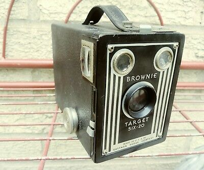 Vintage Art Deco Kodak Brownie Target Six - 20 Box Camera