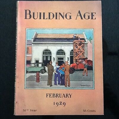 Vintage February 1929 Building Age And National Builder Magazine