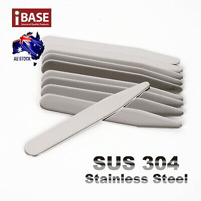 10x Collar Stays Stainless Steel Stiffener Metal 55 64 70 mm long Shirt tie New